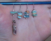 OOAK Turquoise Shell Stitch markers