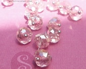 NEW 10 GEMDrops Blush Rose Austrian Crystals Sterling Silver Fill Wrapped, Beads,  Jewelry Findings, Supplies