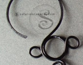 Roman Hoop Hook, Earrings, Jewelry Findings, Supplies