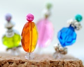 Beaded Thumbtacks for your Corkboard or Jewelry Display, Pushpins - Gelato