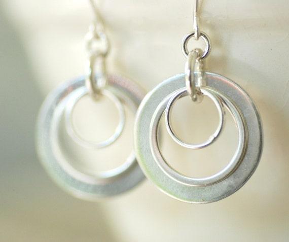 Earrings Little Black Dress Sterling Silver Rings