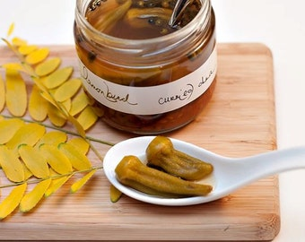 Curried Okra Pickles