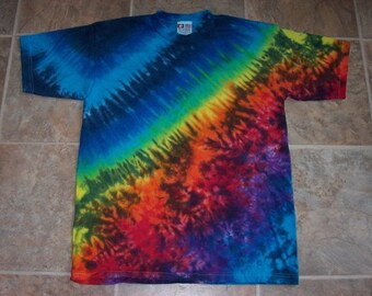 Cosmic Rainbow Tie-dyed 100% Made in the USA Tshirt