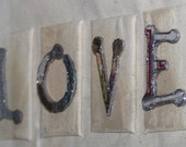 Upcycled Love Canvases Framed