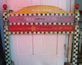 Handpainted Headboard