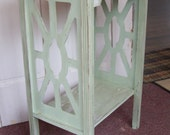 Distressed Green washed End Table