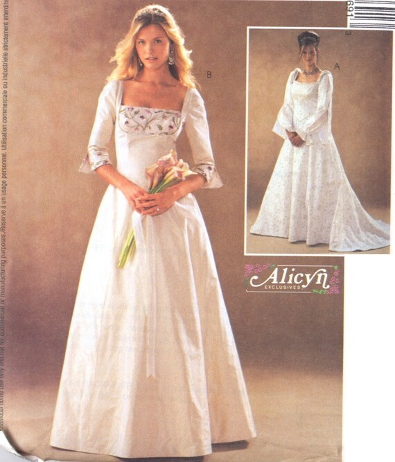 Renaissance Faire Wedding Dress Gown Costume History Mccalls: Renaissance Inspired Wedding Gown Pattern Alicyn By