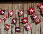 Swiss Flag garland