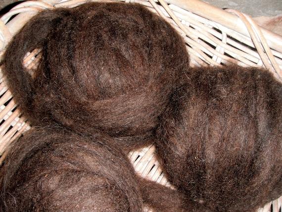 Black Icelandic Wool Roving, 3 oz.