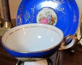Royal Blue Tea Cup & Saucer