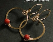 14Karat Goldfilled Earrings Red Coral