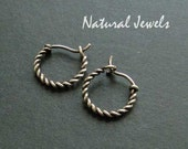 Smallest rope earrings ever - 925 Sterling Silver wire - 1,3 cm in diameter
