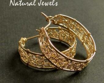 14K Goldfilled Earrings Web of Gold