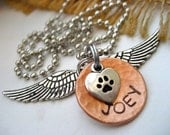 Fallen Angel Pet Memorial Necklace
