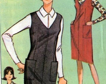 1960s MOD Jumper, Blouse Fels Products by McCalls Patterns P 66 Classic Womens Vintage Sewing Pattern Size 18/20 Bust 38/40 UNCUT