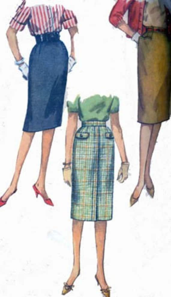 Vintage 1960s Wiggle Skirts Sewing Pattern Simplicity 3626 Vintage 60s MAD MEN Dress Pattern Waist 28 Hips 38
