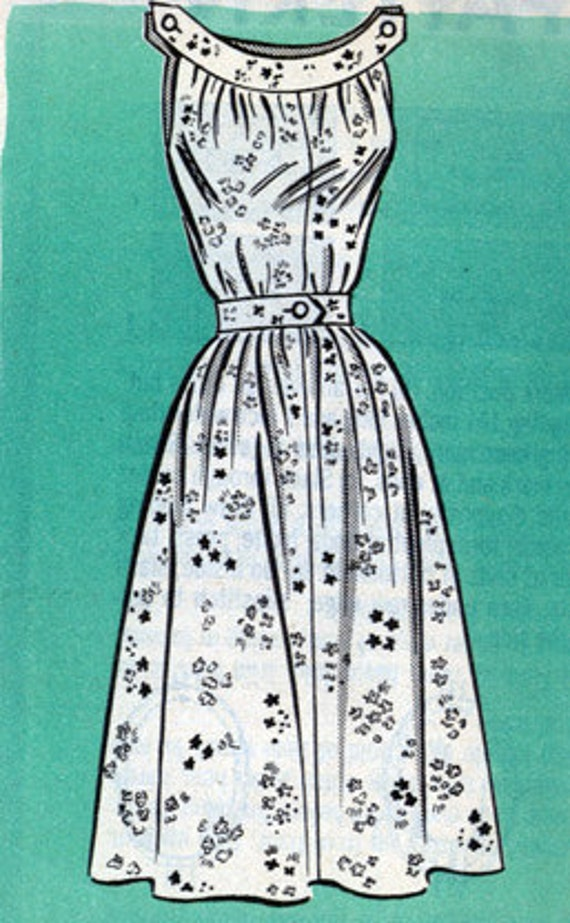 Vintage 50s American Weekly Mail Order pattern 9104 Sundress Sewing Pattern Size 10 Bust 31 UNCUT
