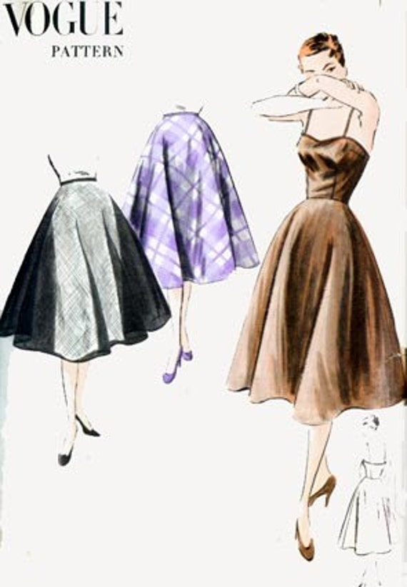 50s Vogue 7312 Full Circle Slip and Petticoat Vintage Sewing Pattern Size 12