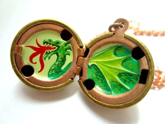 Reserved for Addie - Year of the Dragon Locket and Custom Las Vegas Locket