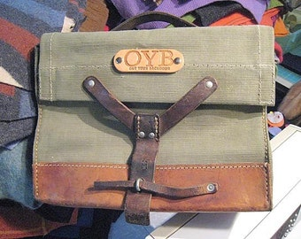 OYB Swiss Retro Bike Pannier -- vintage upcycled