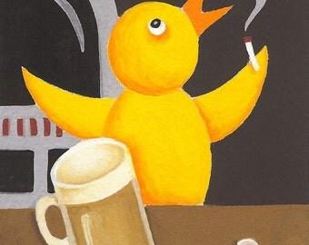 Mr. Chicken Has His Beer (5A)