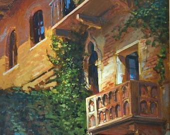 Juliet's Balcony in Verona - Giclee PRINT matted 11x14 by Jan Schmuckal
