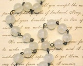 Vintage Milky 8mm Glass Beaded Rosary Linked Chain