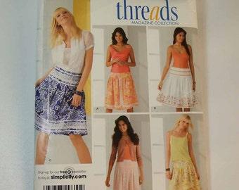 Uncut Simplicity Threads Skirt Pattern Size 8, 10, 12, 14, 16