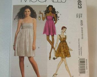 Uncut McCall's Short Party Dress Size 4 6 8 10 12