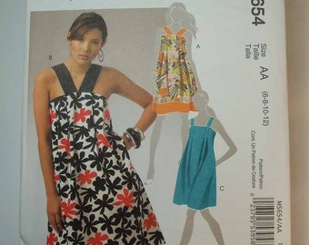 Uncut Easy McCall's Pleated Sundress Pattern Size 6-8-10-12