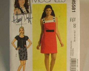 Uncut McCall's Hilary Duff Dress and Jacket Pattern Size DD (12-18)