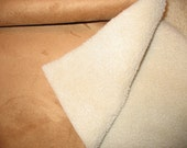 Large Size Suede Bonded Sherpa Fleece for sewing 12 inches x 29 inches