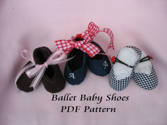 Ballet Baby Shoes EASY sewing pattern PDF make OOAK for your baby gifts