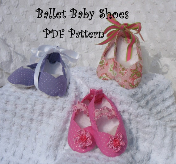 Ballet Baby Shoes EASY sewing pattern PDF make OOAK for your baby gifts for your princess