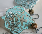 Contessa Earrings - Filigree, Vintage Brass and Oxidized Sterling Silver