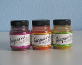 Jacquard Acid Dyes (Three .5oz jars for wool, silk, cashmere and most nylons - fix with vinegar and hot water)