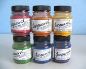 Jacquard Acid Dyes (Six .5oz jars for wool, silk, cashmere and most nylons - fix with vinegar and hot water)
