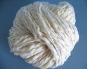 Ecru Thick and Thin Yarn - 4oz skein - 125 yards - Bulky Weight 2 ply Yarn