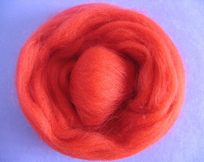 Really Red Corriedale Roving 2oz