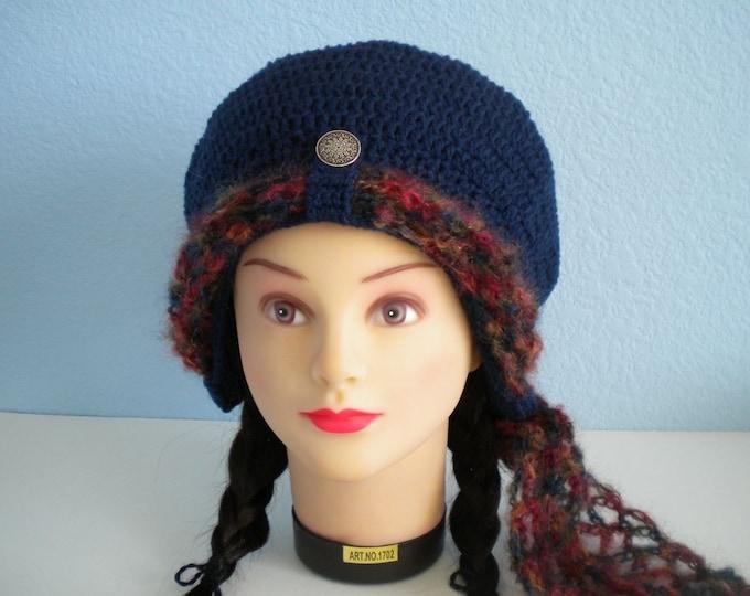 Automobile Bonnet PDF Crochet Pattern (a vintage reproduction, comes with free crochet scarf pattern) / Steampunk / Slouchy Hat