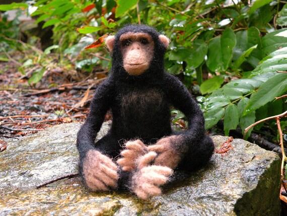 Needle felted chimpanzee...