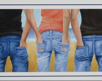 Blue Jean Buddies Print