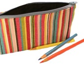 Summer Stripes Cosmetic Bag