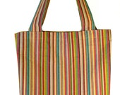 Summer Stripes Shopping Tote