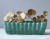 leaf vine metal sculpture / home decor