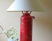 red fire extinguisher lamp