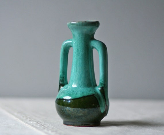 vintage drip glaze pottery vase