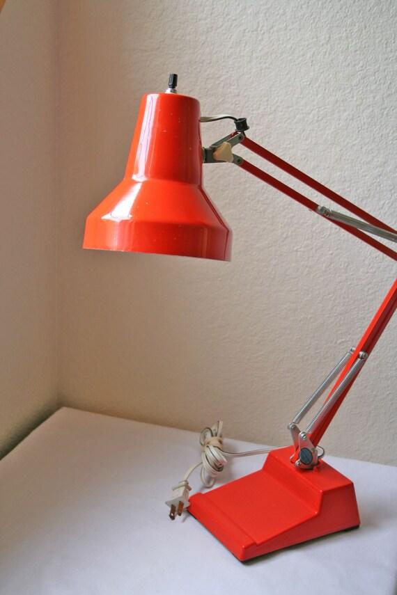 Vintage Retro 70s Orange Desk Lamp