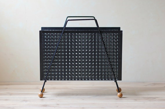 metal black modern magazine rack