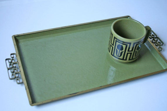 Vintage Moire Glaze Kyes Vanity Or Serving Tray